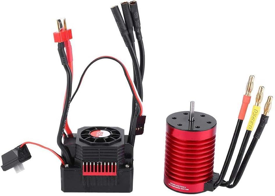VGEBY1 Motor sin escobillas, RC Controlador de Velocidad eléctrico del Motor sin escobillas ESC F540 3000KV / 4370KV y KS45A ESC Combo Set para RC Model Car(4370KV)