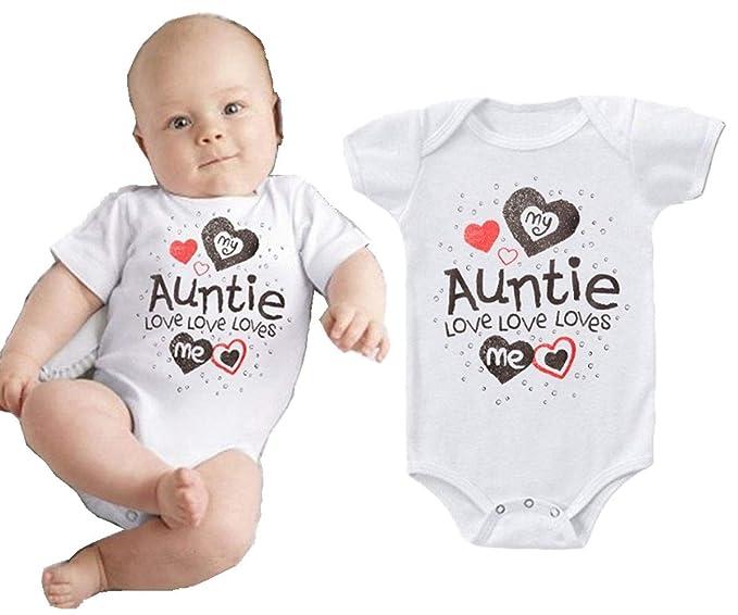 ca0cc0237b9d0 i-Auto Time My Auntie Loves Me Newborn Baby Boy Girl Bodysuit Bodysuit  Romper Clothes