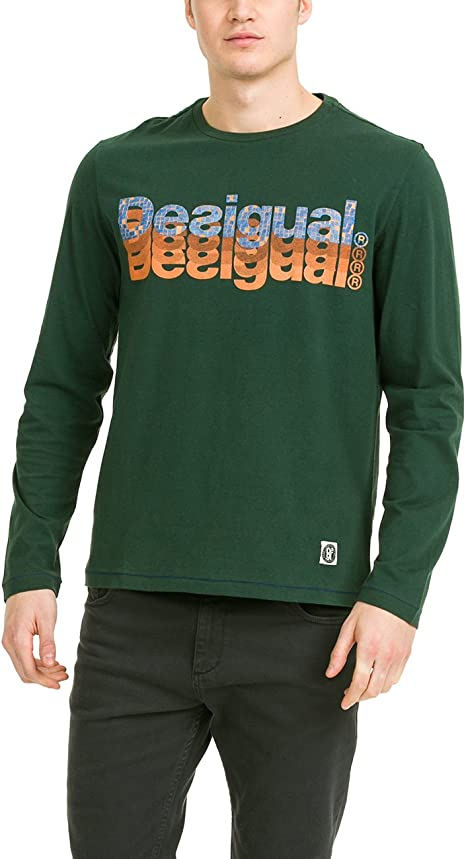 Desigual TS_Jimmy Rep Camiseta, Grün (Jungle Green 4076), L para Hombre: Amazon.es: Ropa y accesorios