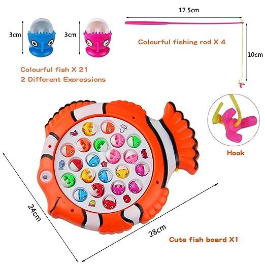 Kinder Angeln Spielzeug Magnetic Fishing Game Spielzeug Set Runde drehen