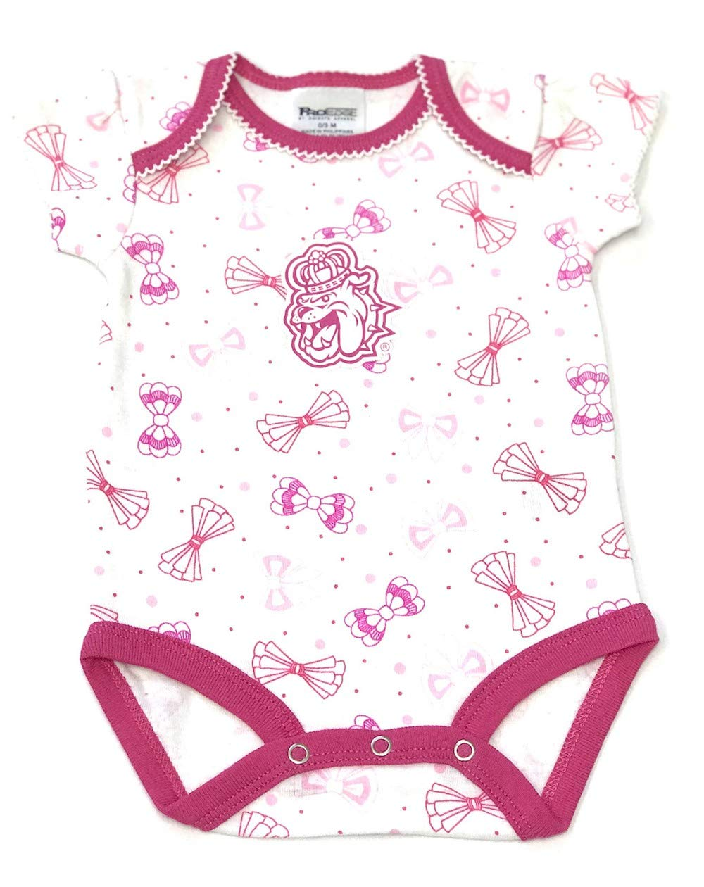 Pro Edge James Madison University Baby Fan Gear 3pc Cotton Envelope Neck Bodysuit