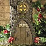 Garden Gnome Home Door in a Tree Art Pieces Outdoor Yard Decor Garden, Lawn, Supply, Maintenance