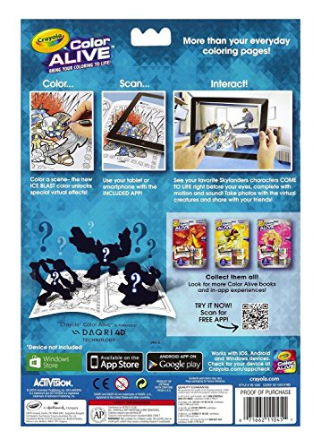 Qiyun Crayola Color Alive Action Coloring Pages Combo Set Skylanders and Mythic