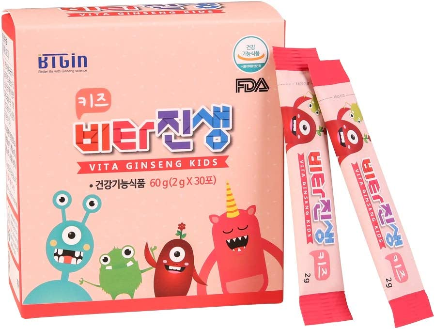 VITA Ginseng Kids/Korean Red Ginseng Immune System Support* for Children/BTGin 5th Generation Ginseng