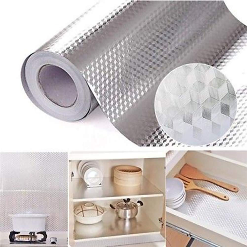 BonTime Foil sticker Aluminum Foil Self Adhesive Waterproof Anti Oil Stove Tile Wallpaper Kitchen Sticker