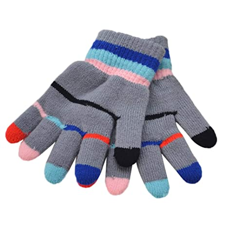 MoGist Stretch Mittens Winter Warm Knitted Gloves for Kids Toddler Supplies Kids//Childrens Lined Thinsulate Thermal Gloves Black