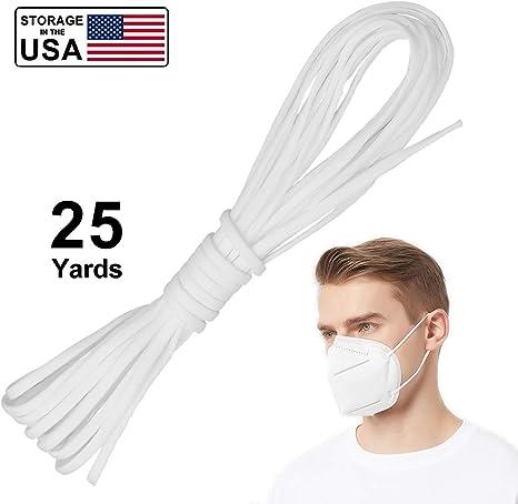 Amazon Com Vanelc Round Elastic Band For Diy Mask 1 8 Inch