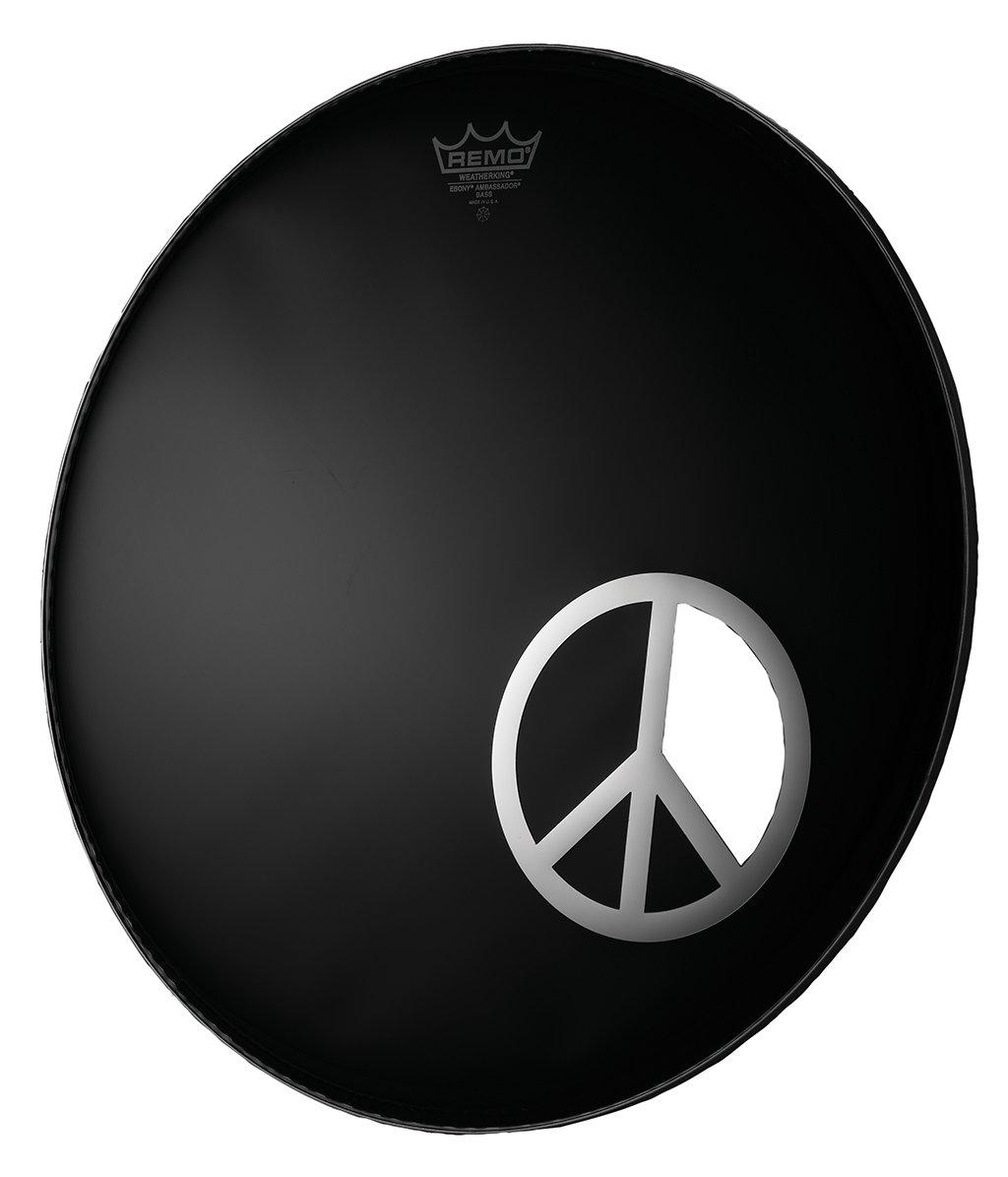 Remo DM-PC06-10 6-Inch Chrome Graphic Dynamo, Peace Sign KMC Music Inc