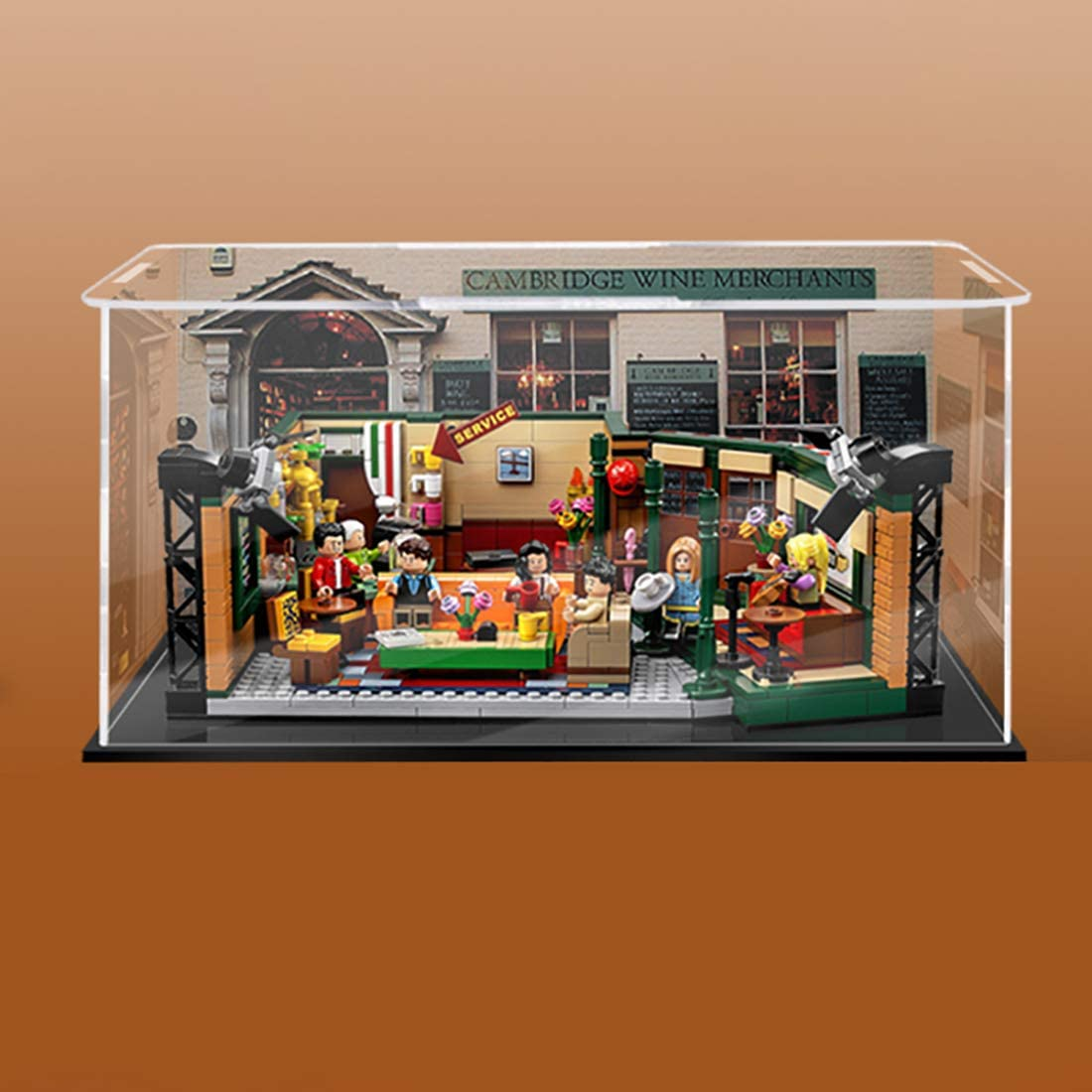 Amazon.com: Lingxuinfo Display Case for Lego Friends Cafe 21319 , Acrylic  Clear Display Box Showcase (Lego Set not Included) - Black Bottom Inkjet  Type: Toys & Games