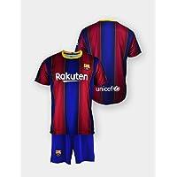 Conjunto Camiseta y pantalón Replica FC. Barcelona 1ª EQ Temporada 2020-21 - Producto con Licencia - Dorsal Liso - 100…