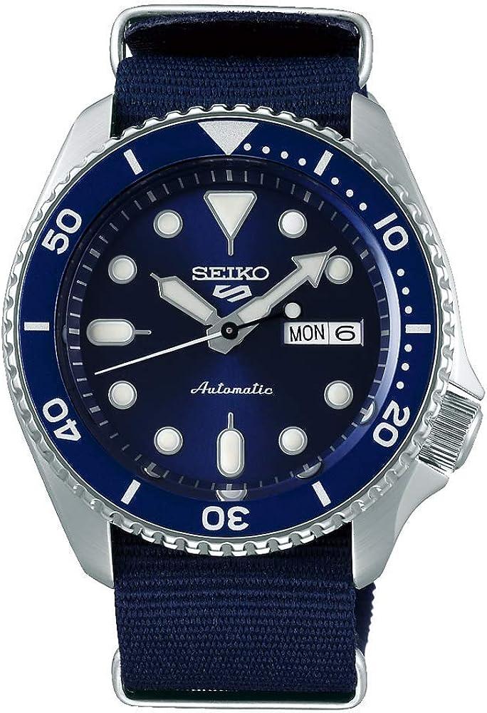 Reloj Seiko 5 Sports automático de Hombre con Correa NATO Azul, SRPD51K2.