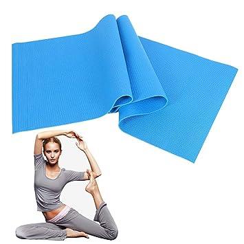 Sky Blue, Big Red -PVC Estera de Yoga para Principiantes Que ...