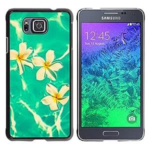 Electricidad Lirios Blancos - Metal de aluminio y de plástico duro Caja del teléfono - Negro - Samsung ALPHA G850