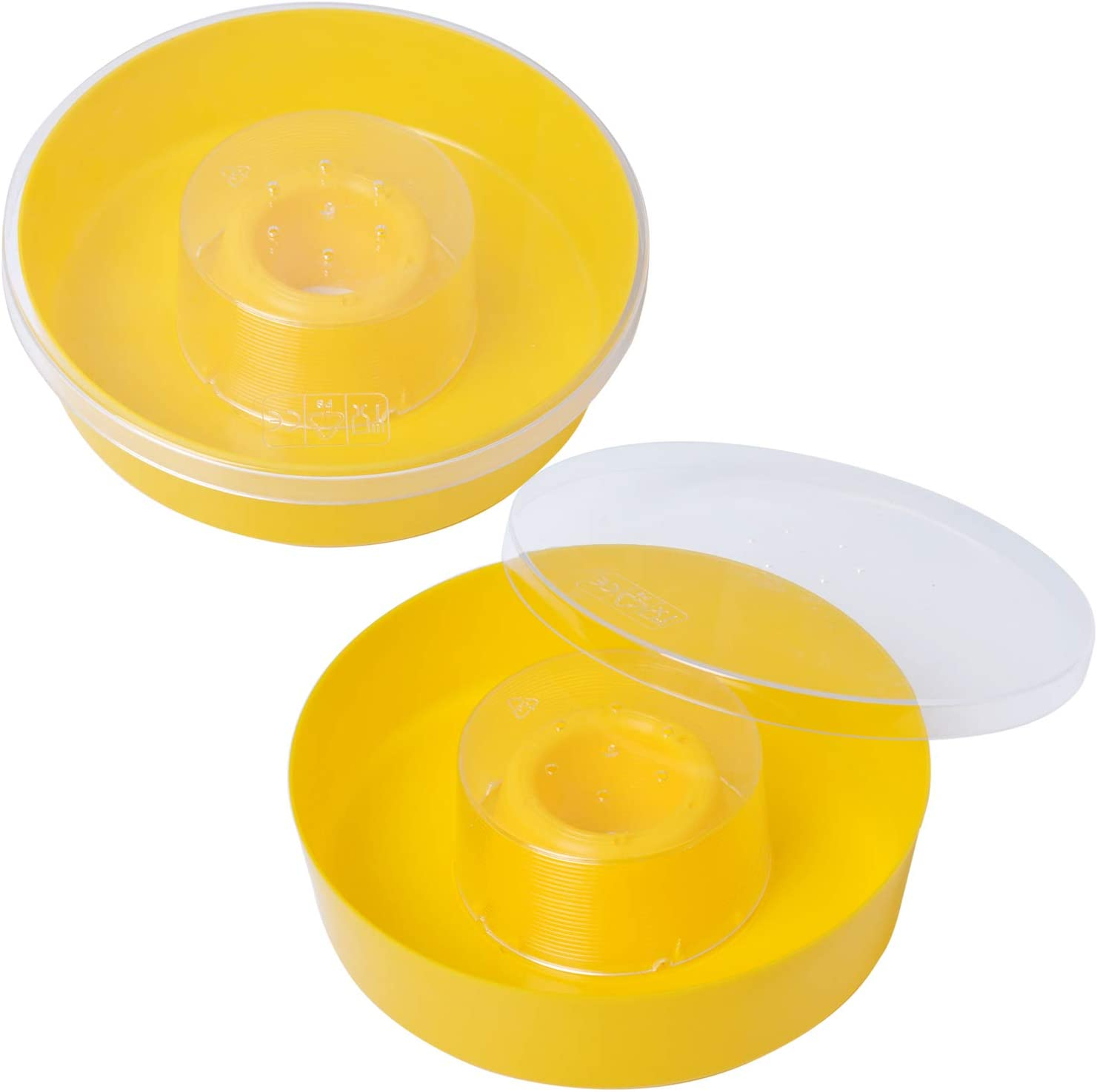 Swess Bee Rapid Feeder, Round Beehive Water Feeder Beehive Drinking Bowl for Beekeeping Supplies