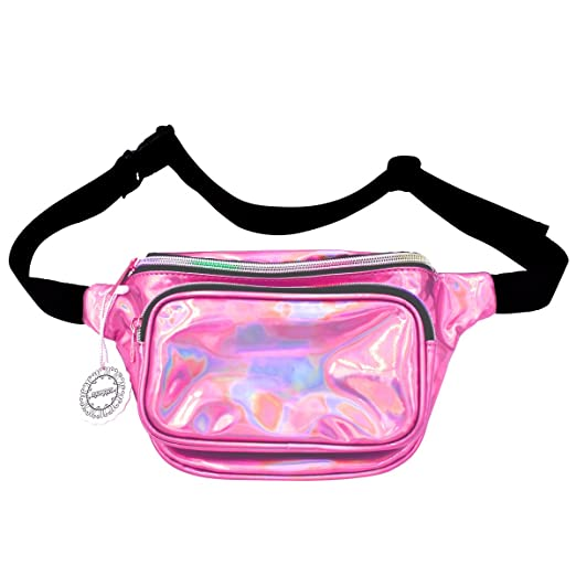 717fe1d3cda6 Water Resistant Shiny Neon Fanny Bag for Women Rave Festival Hologram Bum  Travel Purse Waist Pack