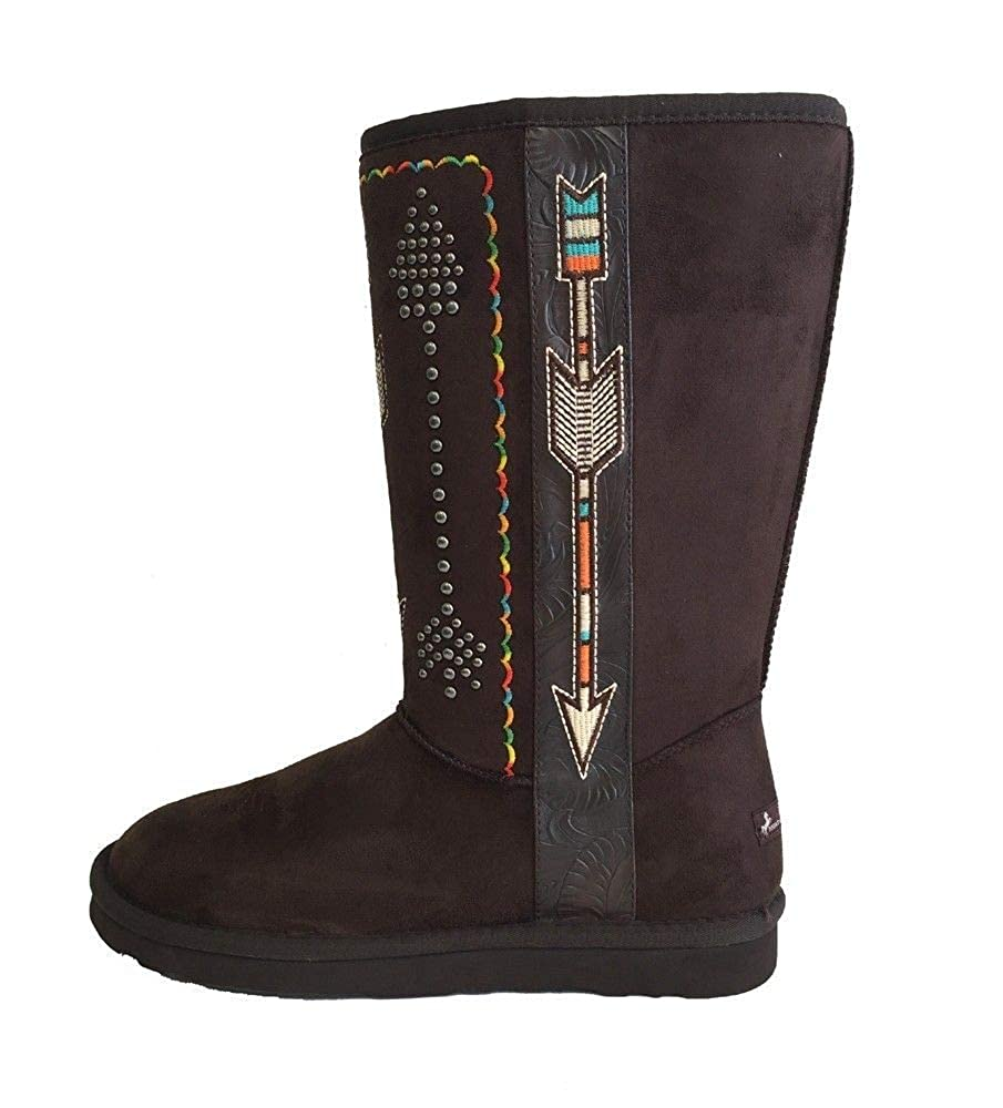 Montana West Womens Western Style Micro Suede Winter Snow Boots Faux Fur Lining