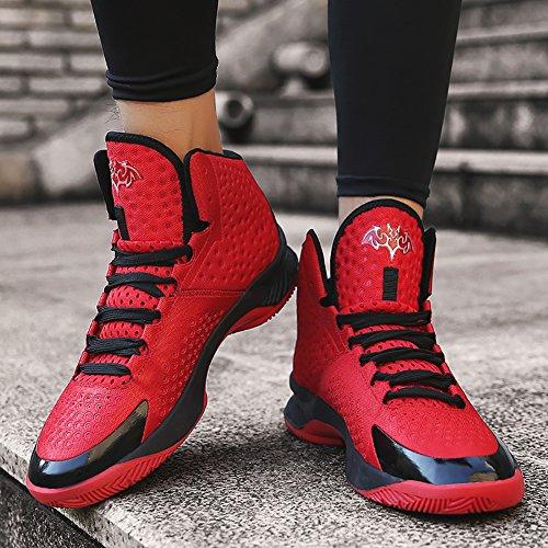 Nr. 66 Stad Paar Heren Dames Loopschoenen Sneaker, Basketbalschoenen Rood