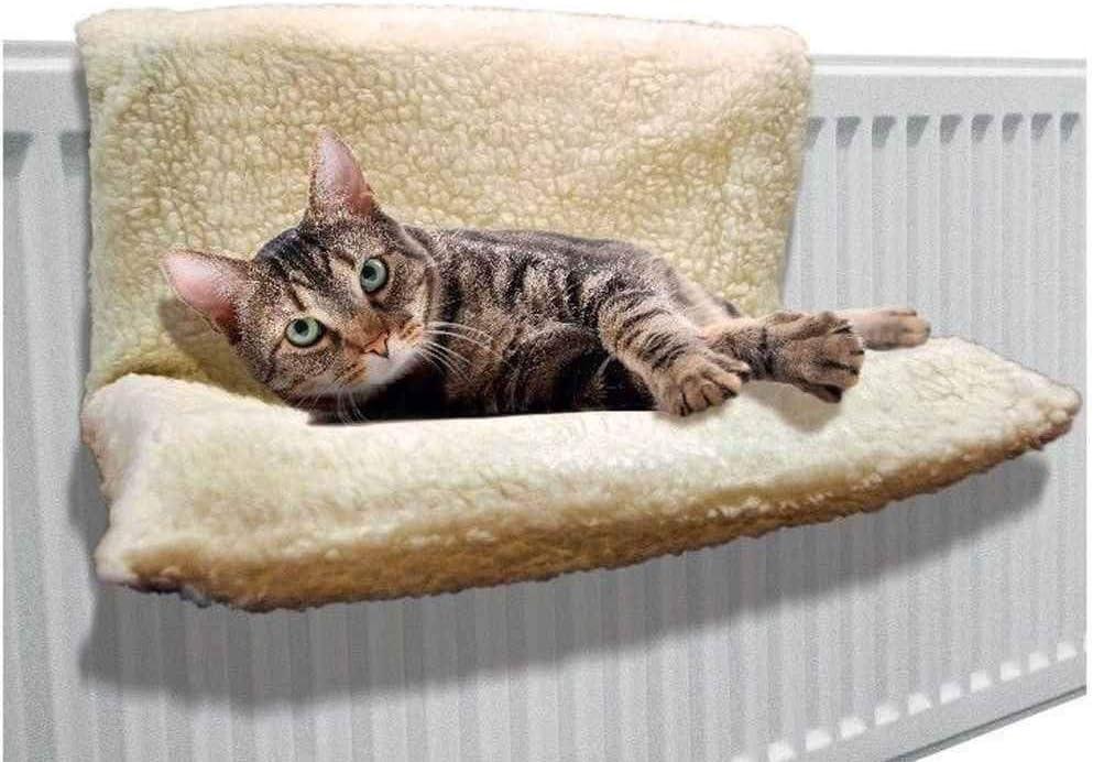 Trading Innovation - Cama radiador para gatos (46 x 30 x 25 cm), diseño de gato: Amazon.es: Hogar