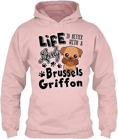 Sweatshirt Hoodie In Prink Brussels Griffon Best Firend Tee Shirt