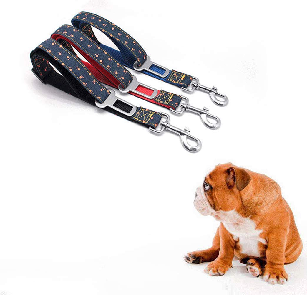 GBY Pet car seat Belt, Dog seat Belt, Dog Retractable seat Belt, pet Denim car seat Belt Car pet seat Belt 2.570cm, restrained Dog Safety seat Belt-Blue by GBY