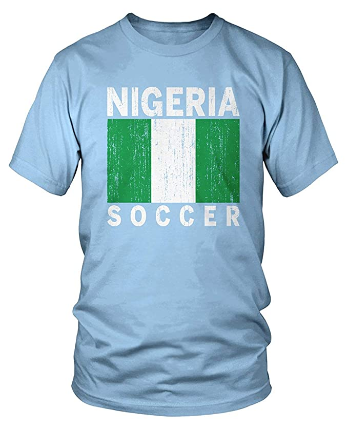XCVNBX Mens Team Nigeria Soccer, Nigerian Football T-Shirt ...