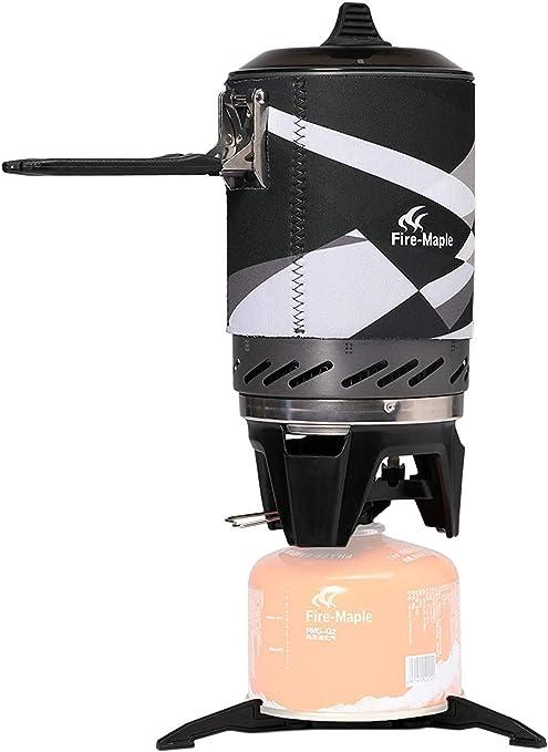 Fire-Maple 2019 Star FMS-X2 1L 2200w hornillos portátiles Ultraligera compacta Resistente al Viento con Soporte y Soporte para Encendido piezoeléctrico Pot - 600 Gramos (Negro): Amazon.es: Deportes y aire libre