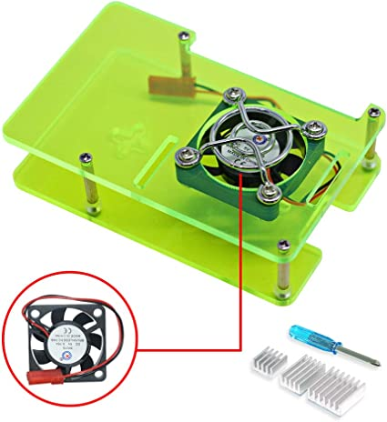 VICKSONGS Kit para Raspberry Pi 4 Case con 2 Pin Ventilador [5V/0 ...