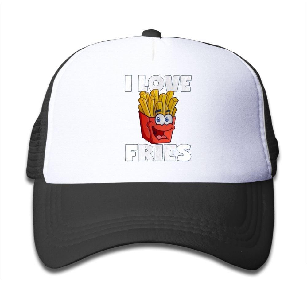 Aiw Wfdnn Mesh Baseball Cap Boy I Love French Fries Casual Adjustable