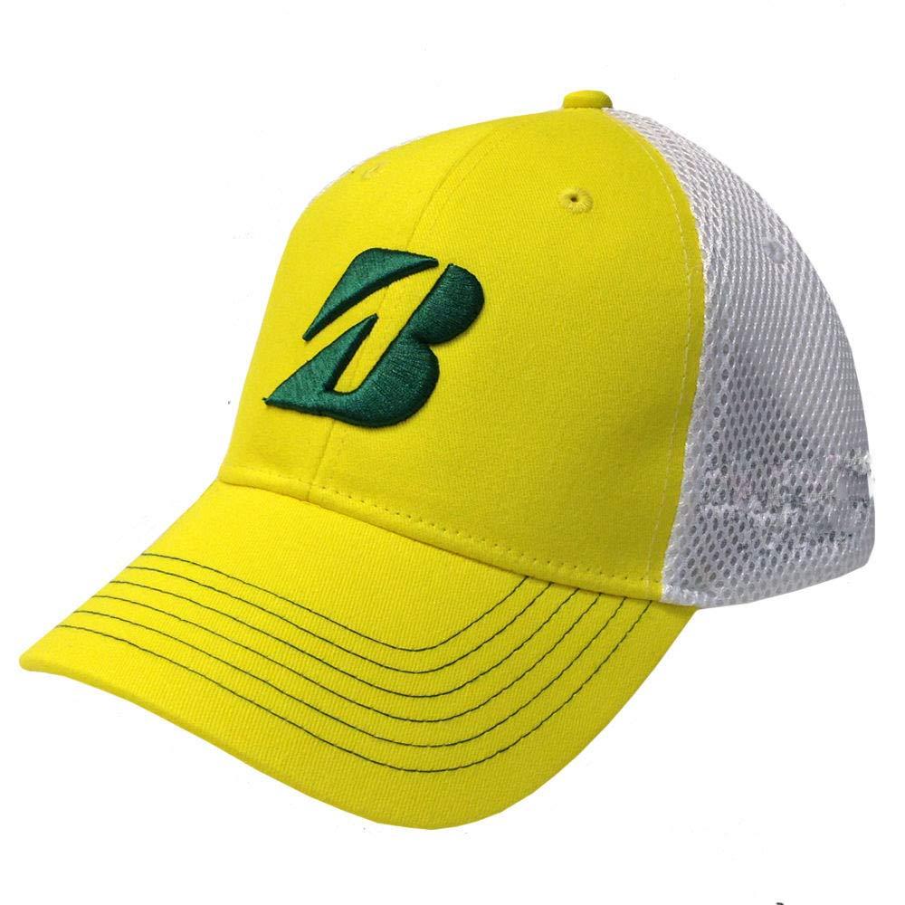ブリヂストン ゴルフ スプリングコレクション マスターズ イエロー/グリーン 調節可能な帽子/キャップ   B07JR8VXZY