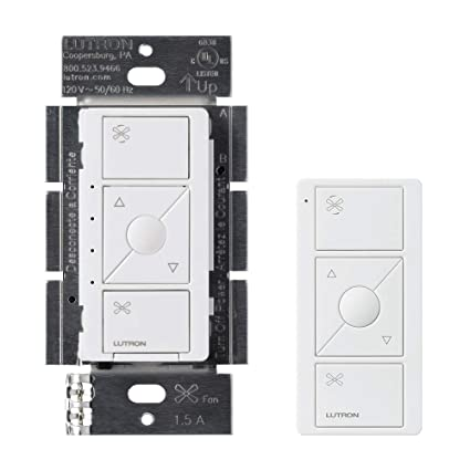 Lutron Caseta Wireless Smart Fan Speed Control, Single-Pole, PD-FSQN-