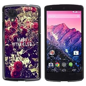 Dragon Case - FOR LG Nexus 5 D820 D821 - roads untraveled - Caja protectora de pl??stico duro de la cubierta Dise?¡Ào Slim Fit