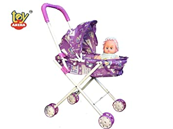 Baby Dolls Stroller Foldable Pushchair Kids Gift Pretend Role Play Toys B