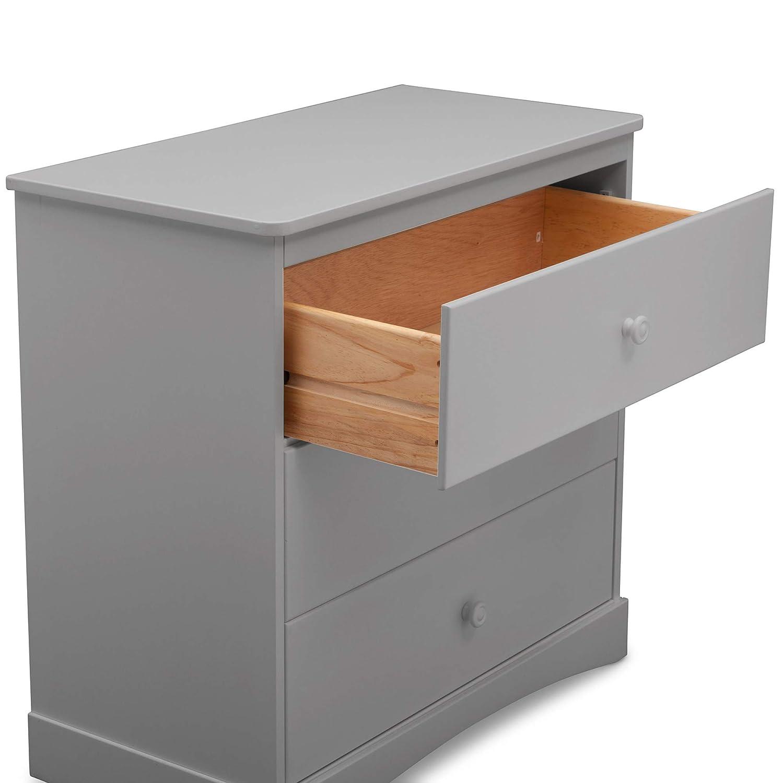 Delta Children Sutton 3 Drawer Dresser with Changing Top, Grey : Baby