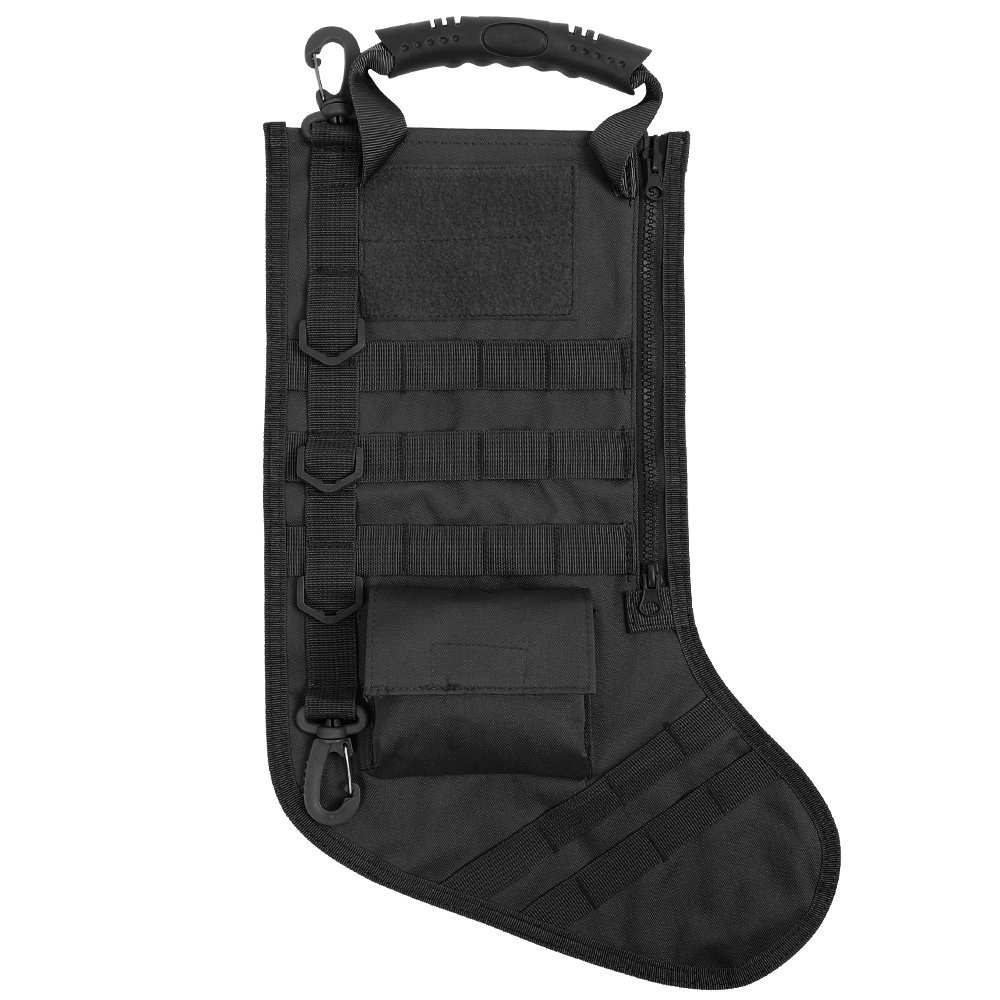 Tactical Bag Accessories, Molle Dump Pouch Magazine Storage Bag Christmas Stockings for Outdoor Hunting Shooting Military Black