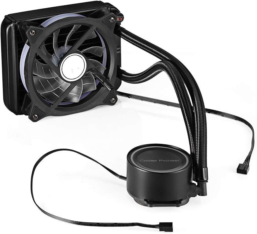 BETAZOOER 120mm Liquid CPU Cooler, Dual ML120 PWM Fans, Intel LEA2066, 2011-V3, 1151/1155/1156/X58/X79, AMD Socket AM4 …
