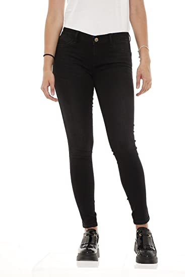 Liu Jo Sport T67065D4163 Jeans Bottom Up Divine pantaloni donna in cotone  stretch vita regolare skinny (XL b72d23ed4a0
