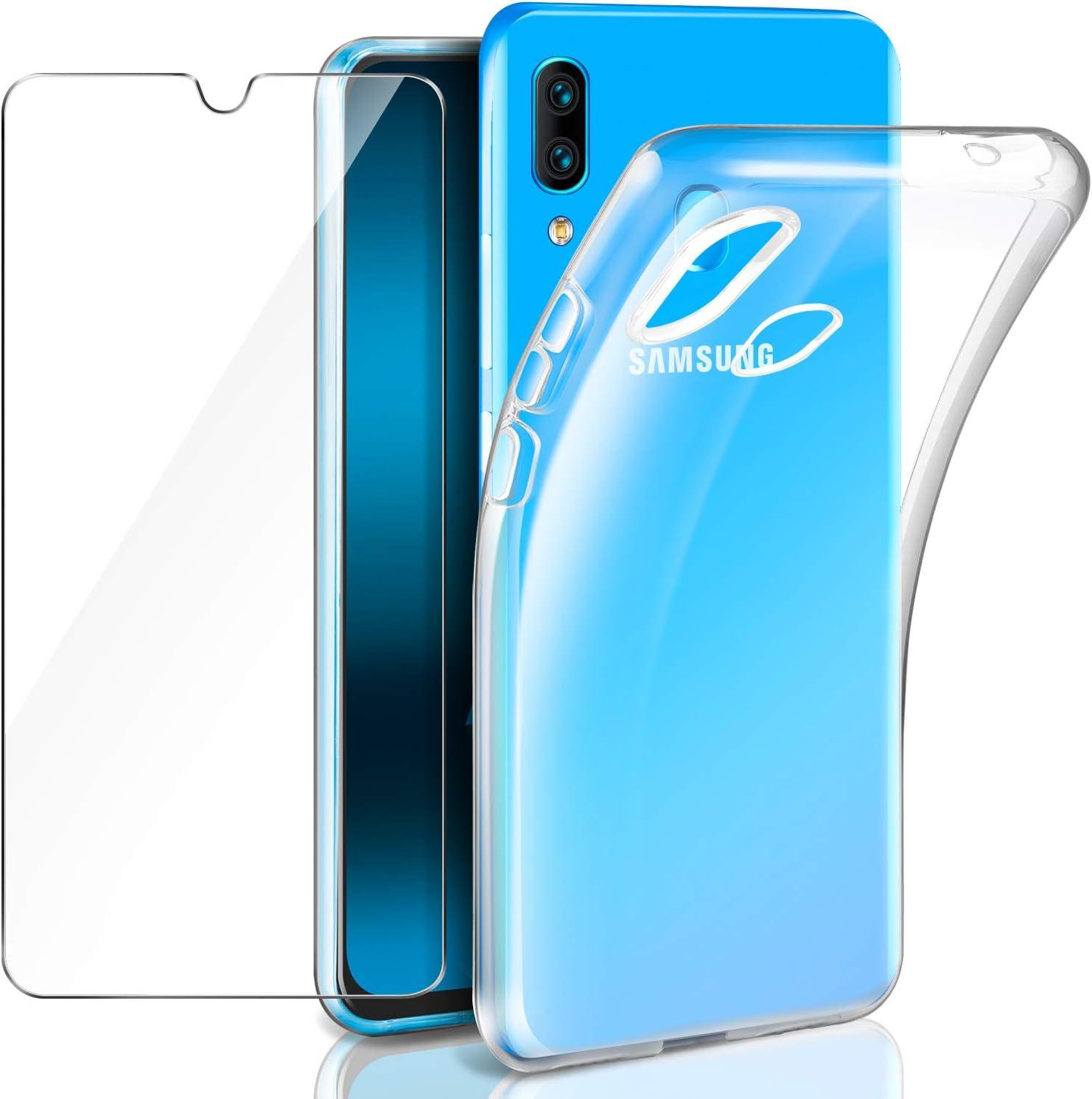 Leathlux Samsung Galaxy A40 Funda + Cristal Protector de Pantalla ...