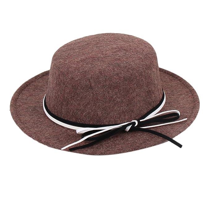 Ealafee Women Royal Wool Wide Brim Cloche Fedora Floppy Billycock Top Hats  Caps at Amazon Women s Clothing store  da2129b43b2b