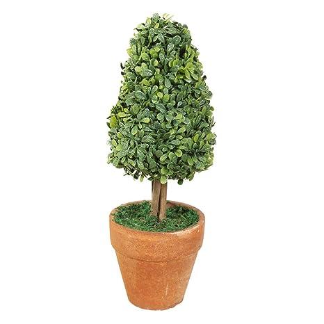 Tiesto - SODIAL(R) Planta de tiesto de plastico de jardin hierba de bola