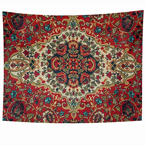 DIYCow Tapestry Wall Decor 60 x 50 Inches Art Oriental Carpet Pattern Floral Close Design Balkan Tapestries Wall Hanging Home Decor for Home Office Bedroom
