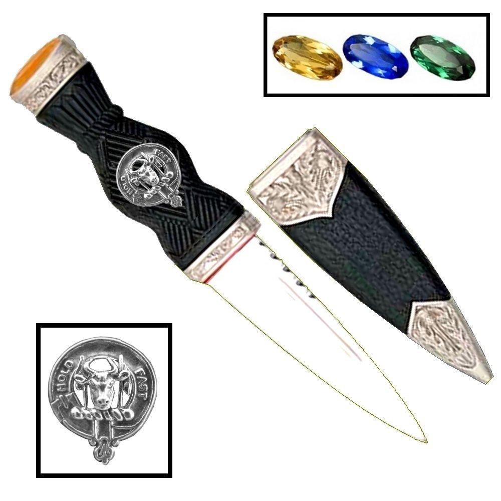 Scottish Clan Crest Sgian Dubh ~ MacLeod (Harris)