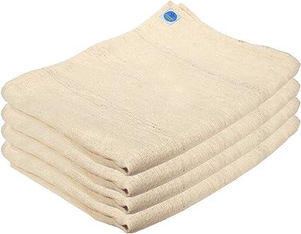 Amazon.com: Juego de 4 de algodón blanco Pune Yoga mantas ...