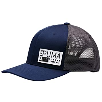 Amazon.com  PUMA Cobra Golf Hat 022029 03 CA Trucker Snapback Cap ... 19e24af88aa