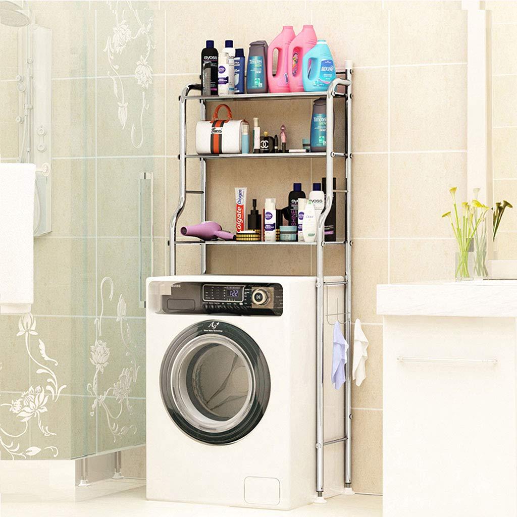 Étagères de rangement pour salle de bain en acier inoxydable, étagères de rangement robustes pour lave-linge, unités de rayonnage à 3 niveaux (taille : Width 50cm) étagères de rangement robustes pour lave-linge