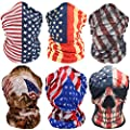 Headwear Bandanna Headband-6PCS Yoga Sports US Flag Balaclava,Head Wrap, Neck Gaiter,Multifunctional Stretchable Sport Face Mask Face Mask