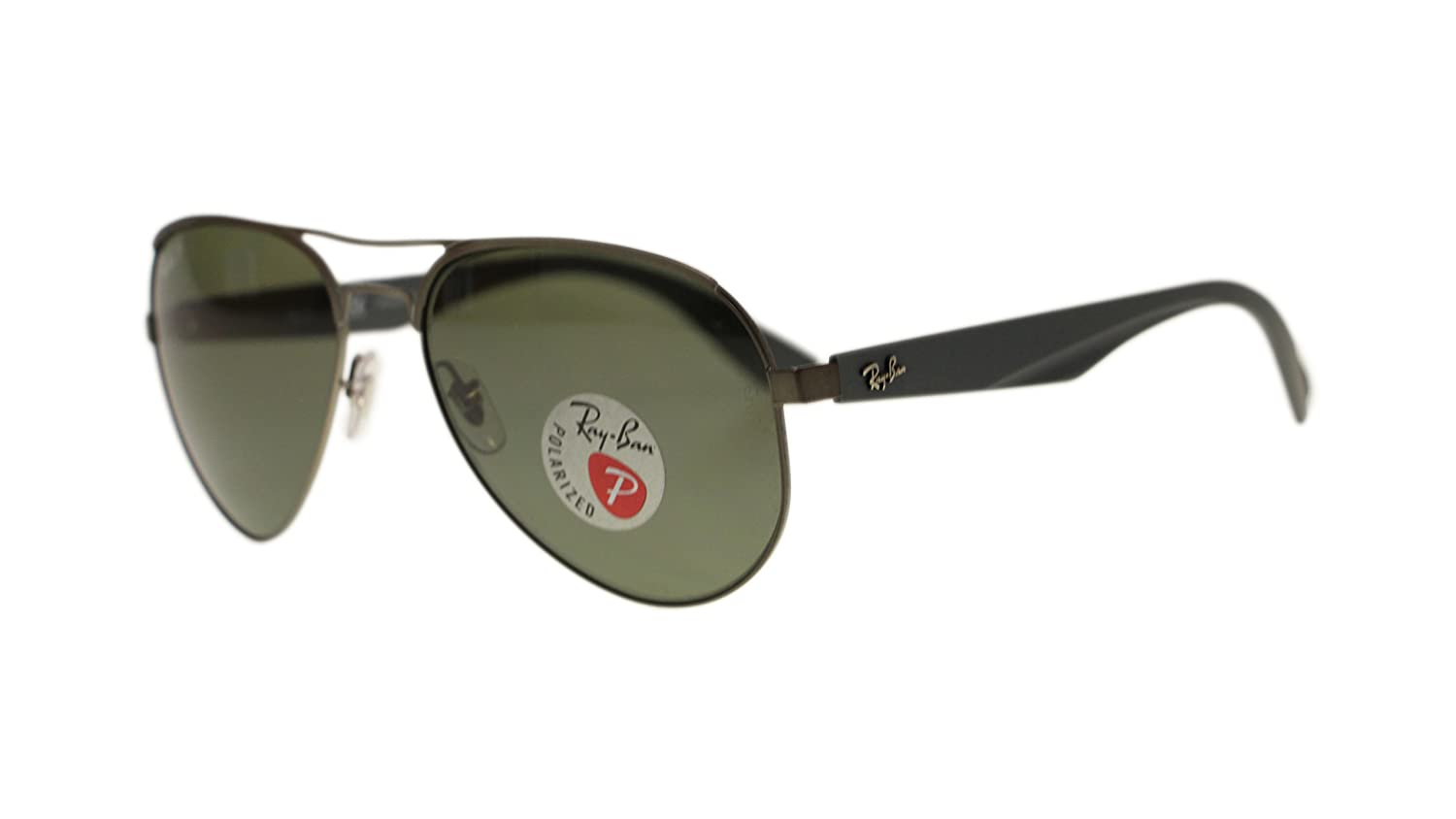 f82bf9ed3c Ray Ban Mens Sunglasses RB3523 029 9A Matte Gunmetal Green Polarized Lens  59mm Authentic  Amazon.co.uk  Clothing