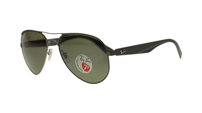 0715c842e5 Amazon.com  Ray Ban Mens Sunglasses RB3523 029 9A Matte Gunmetal Green  Polarized Lens 59mm Authentic  Clothing