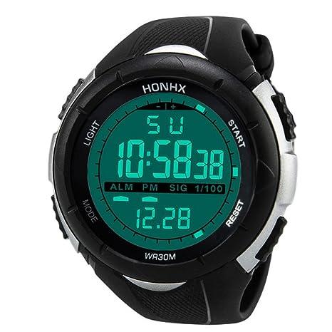 Bescita - Reloj digital de pulsera para hombre, de estilo militar, deportivo, con