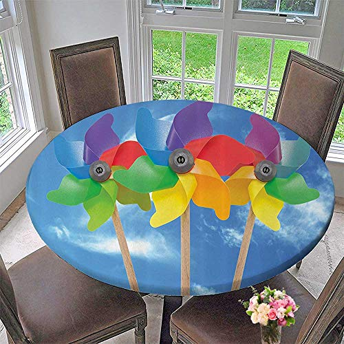 Man Spider Placemat 3 (Mikihome Round Premium Tablecloth Three Pinwheel Kids Play Toys Sunny Vacati Fun Outdoor Activities 35.5