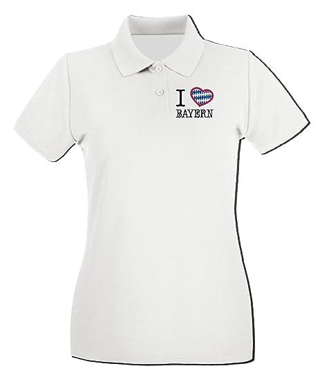 T-Shirtshock - Polo para Mujer TLOVE0014 i Love Bayern Heart ...